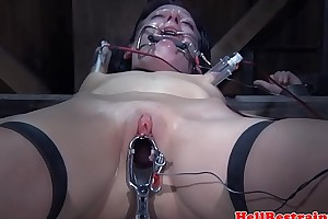 BDSM coupler dominating sub with electroplay