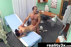 Sexy nurse joins the doctor and the cleaner for triune