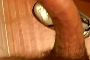 Flimsy exhibitionist shows lacking his veiny Latino penis in bathroom