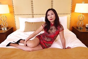Mature Asian MILF Fucks Blanched Cock