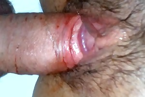 Guy has a first period bloody sex up girl - a hot deflowering video