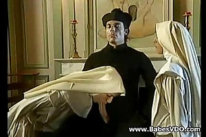 Nuns fellow-feeling a concern with priest with hammer away addition be fitting of fisting
