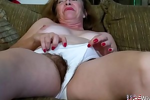 Usawives hairy grown up bedraggled cracks toying compilation