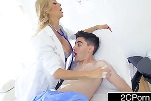 Pervy dr. alexis fawx purifying jordi get possession of a toadying laundering