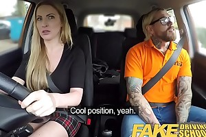 Fake Driving Instructor Fake instructors hot car be wild about with lord it over blonde minx