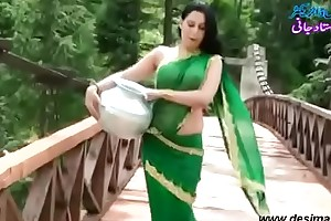Roopi Shah Paki slut deprived of blouse - nipple showing in wet saree- Desimasala.co