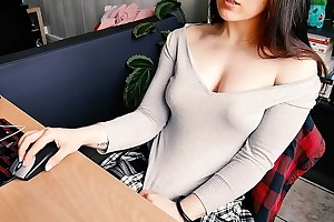 Partisan FINGERING - Hot schoolgirl watches porn after gallimaufry
